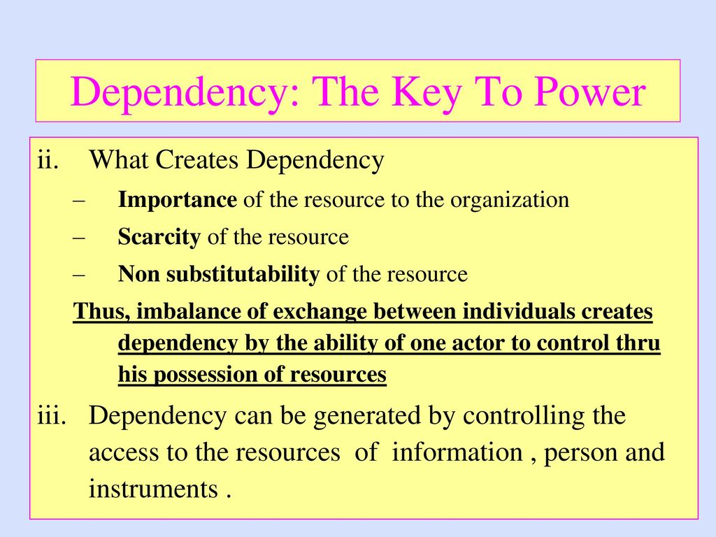 Organizational politics power and dependency essay