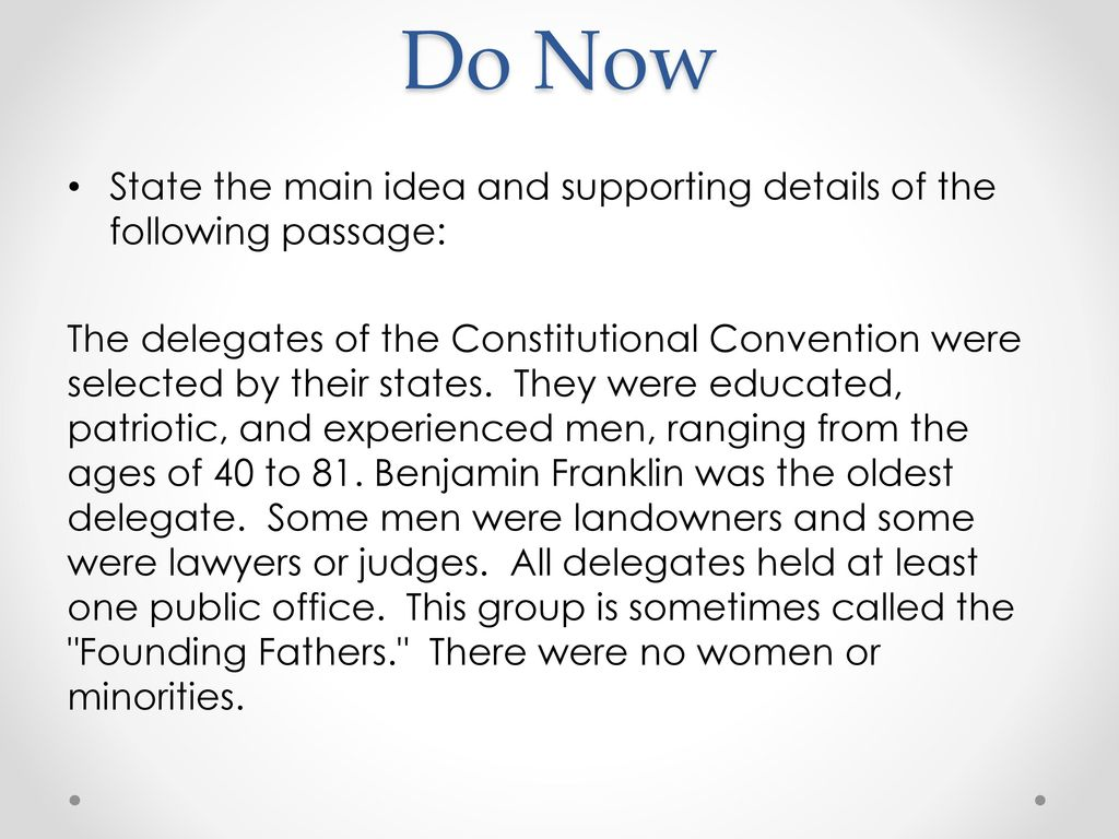 Constitutional Convention Worksheet ppt