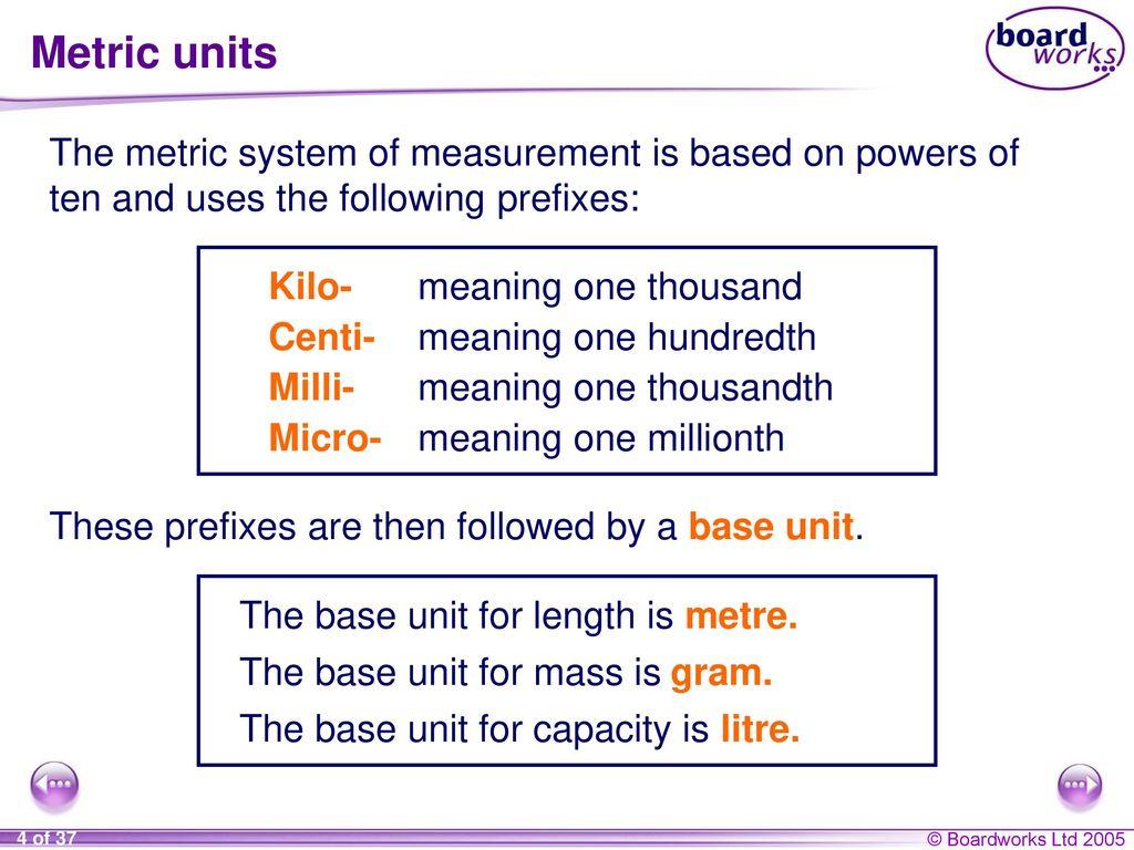 Ks4 mathematics s8 measures ppt download 4 metric biocorpaavc Gallery