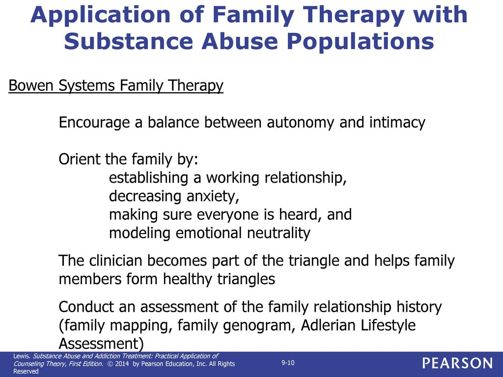 Chapter 9 applying family systems approaches in the treatment of application of family therapy with substance abuse populations buycottarizona
