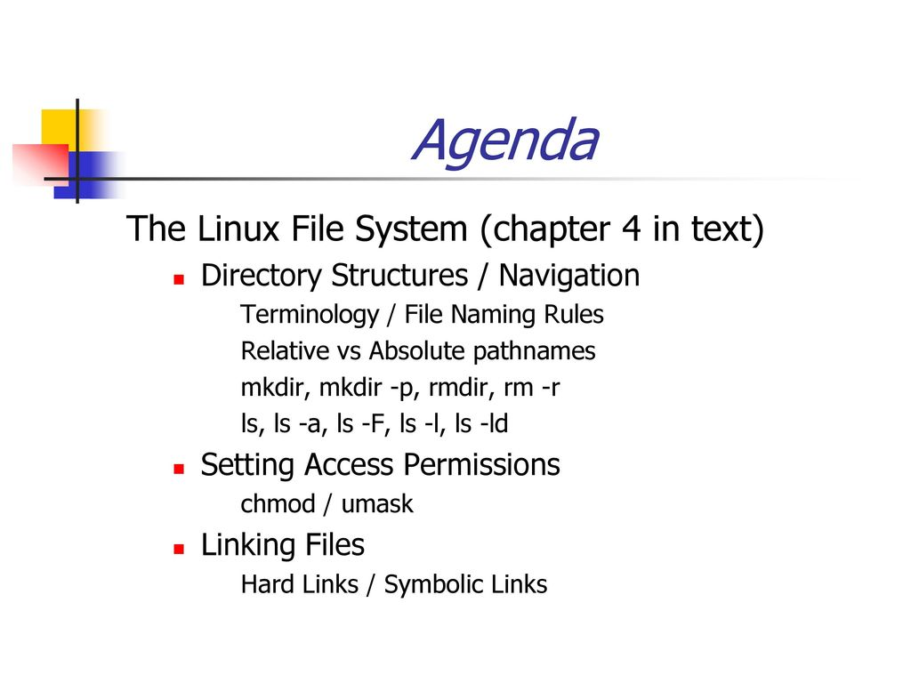 Agenda the linux file system chapter 4 in text ppt download agenda the linux file system chapter 4 in text buycottarizona