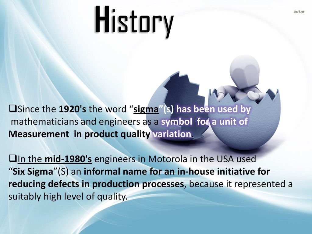Introduction six sigma is a set of techniques and tools for history since the 1920 s the word sigma s has been used by 1betcityfo Gallery