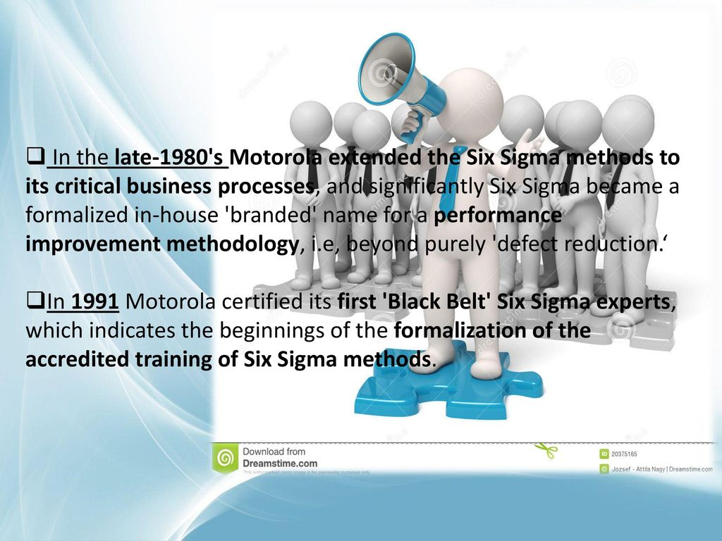 Introduction six sigma is a set of techniques and tools for in the late 1980 s motorola extended the six sigma methods to its critical business 1betcityfo Choice Image