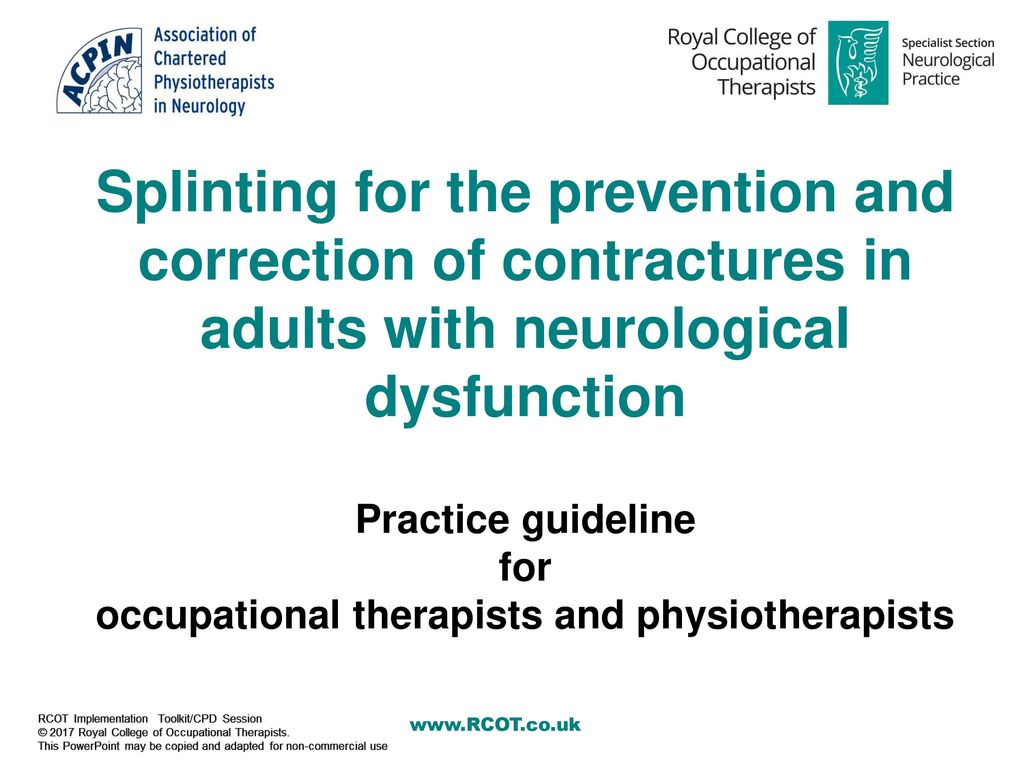 occupational therapists and physiotherapists - ppt download