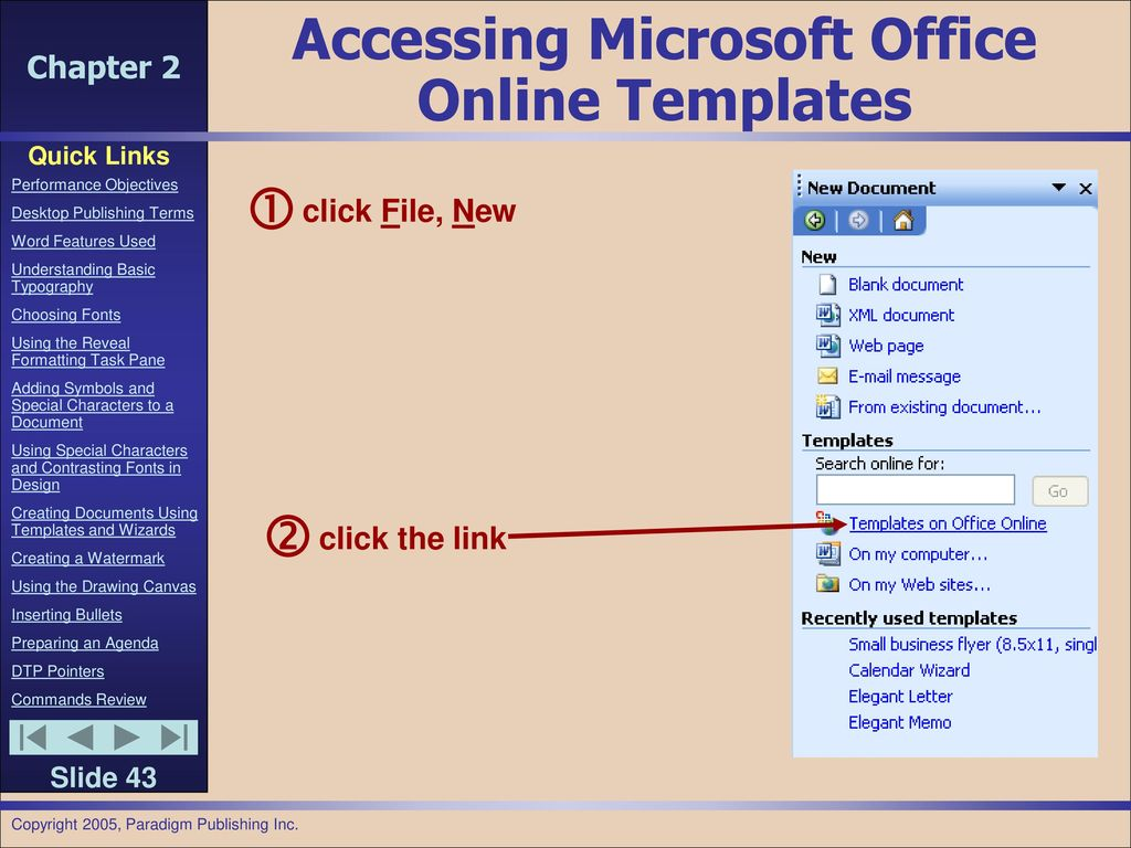 ms office online templates