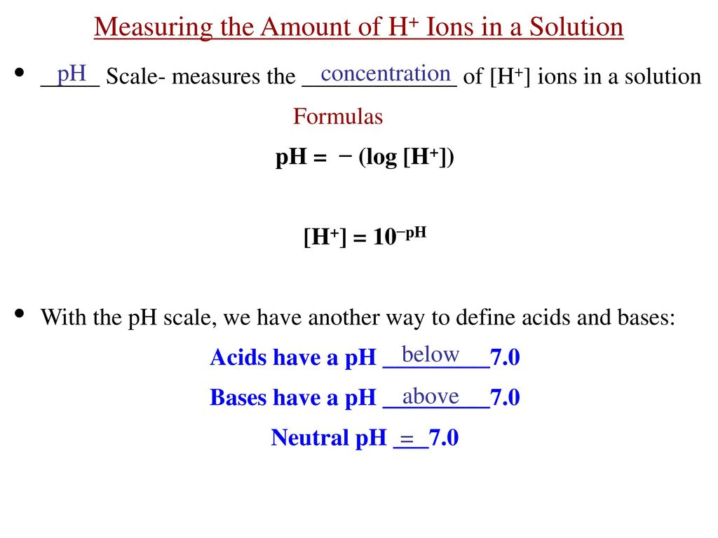 how to find amount of h+