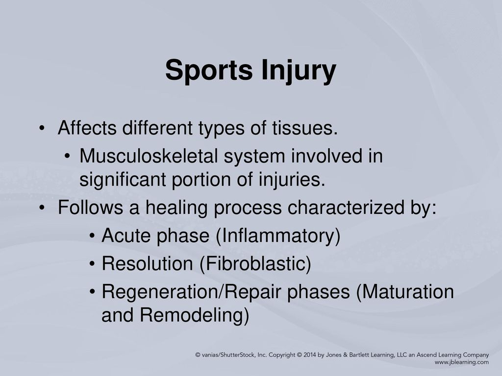 the different types of sports injuries In general, sports and exercise injuries fall into two categories: overuse injuries and traumatic injuries the most common symptom of an overuse injury is pain, but you may also experience tingling, numbness, swelling, stiffness or weakness in the affected area traumatic injuries are often the.