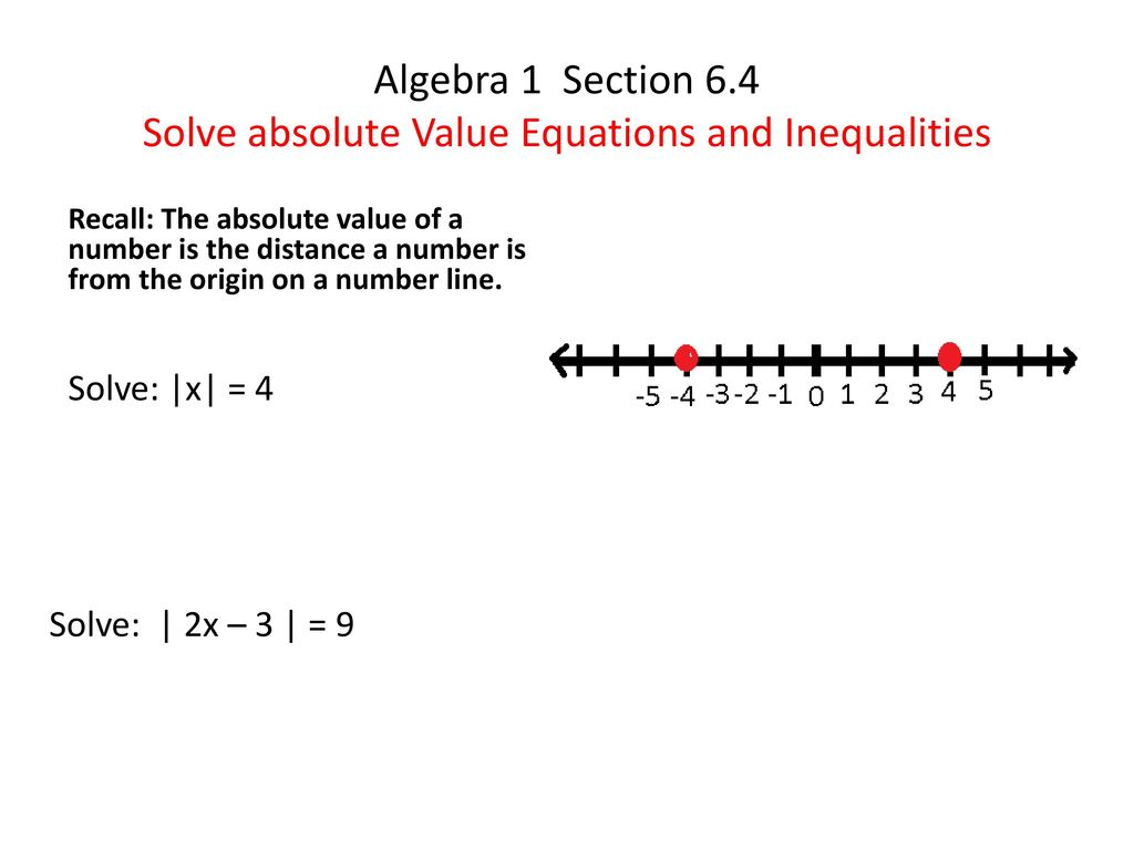 worksheet Solving Absolute Value Equations And Inequalities Worksheet algebra 1 section 6 4 solve absolute value equations and inequalities