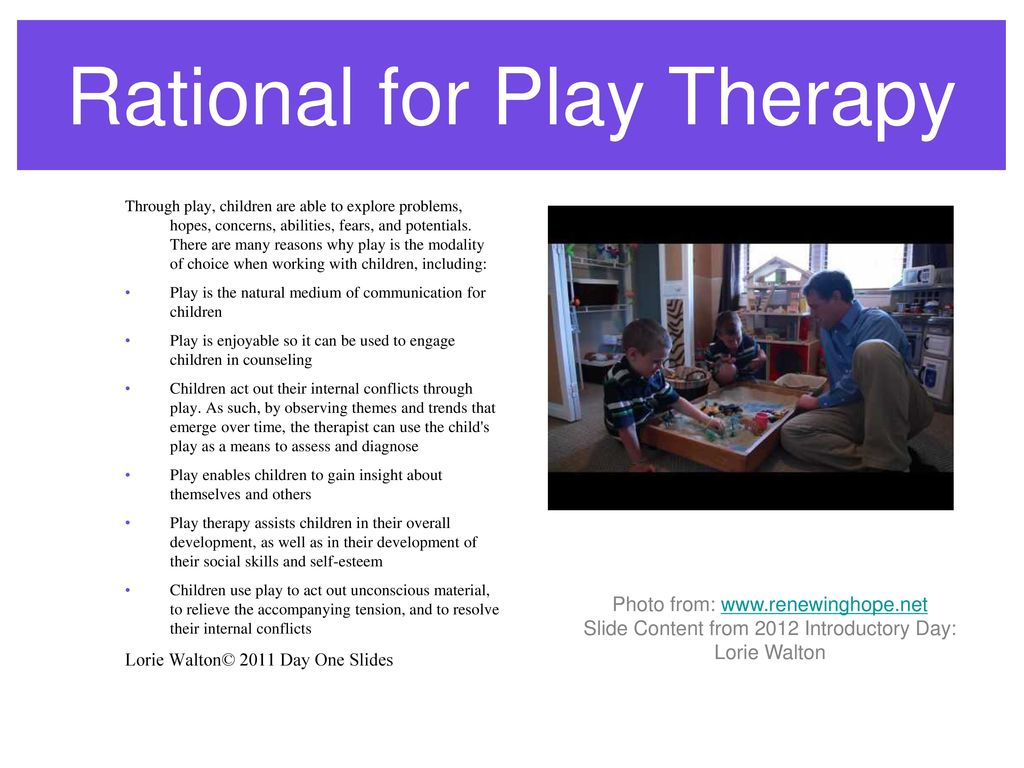 Introduction to play therapy day one ppt download rational for play therapy 1betcityfo Gallery