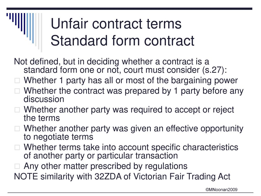 Unfair contract terms in standard form contracts ppt download unfair contract terms standard form contract falaconquin