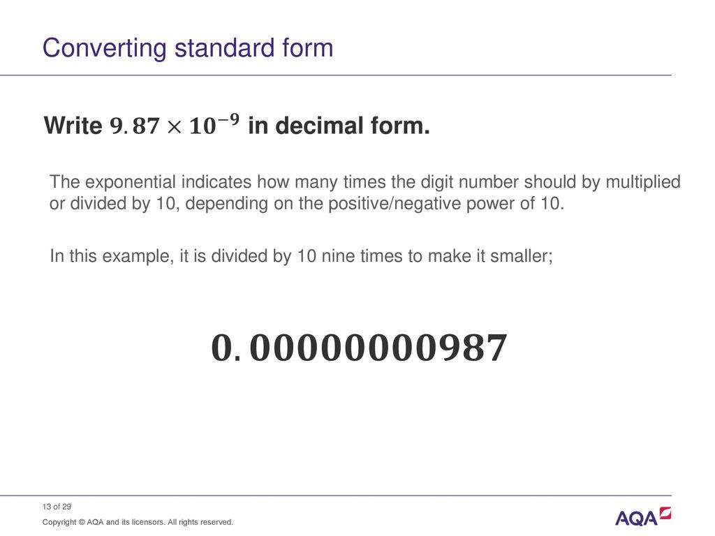 Standard form and order of magnitude calculations ppt download converting standard form falaconquin