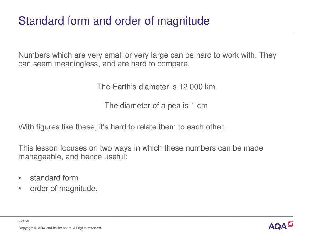 Numbers standard form choice image standard form examples standard form and order of magnitude calculations ppt download standard form and order of magnitude falaconquin falaconquin