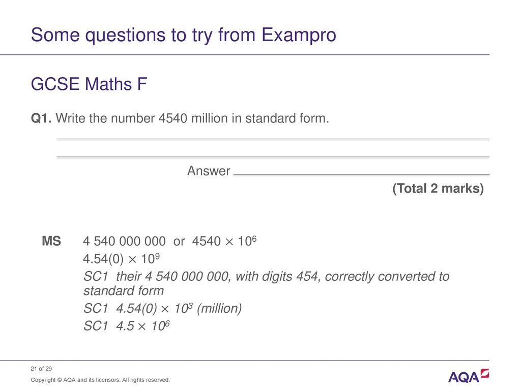 Standard form and order of magnitude calculations ppt download 21 some questions falaconquin