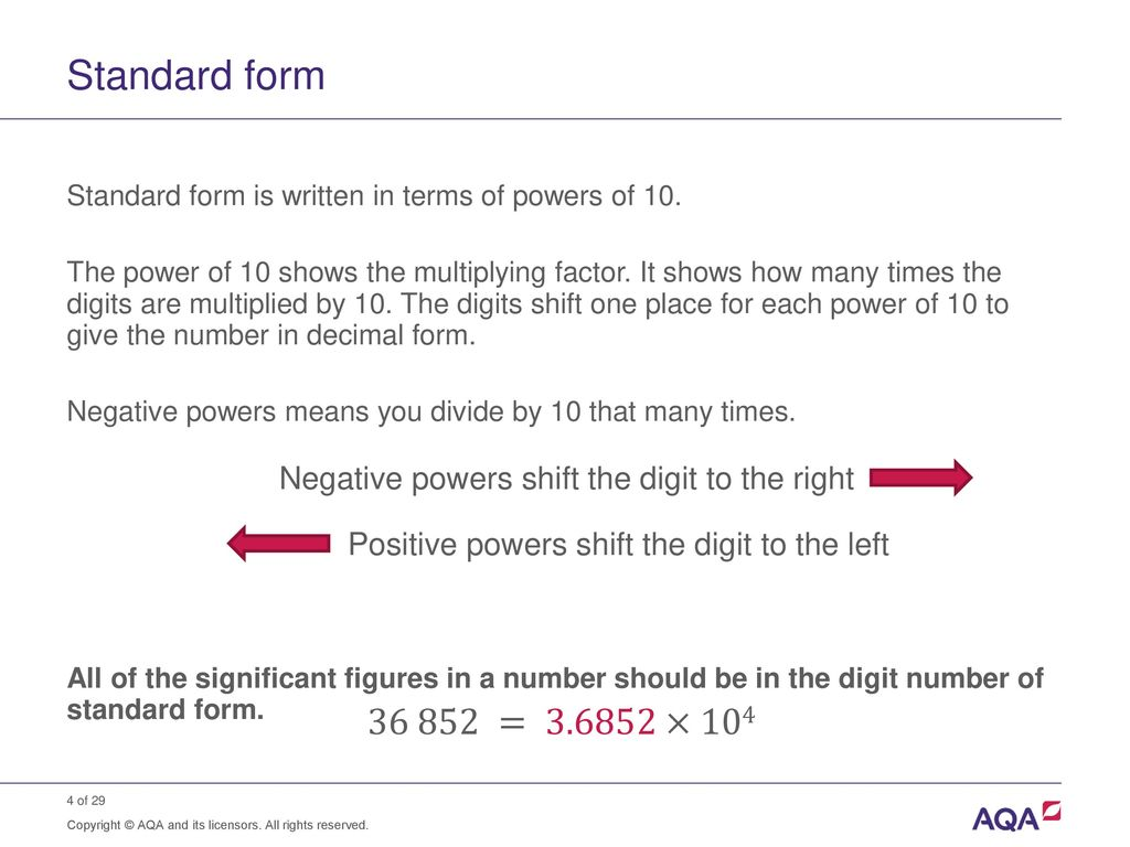 Standard form multiplication choice image standard form examples standard form and order of magnitude calculations ppt download standard form falaconquin falaconquin
