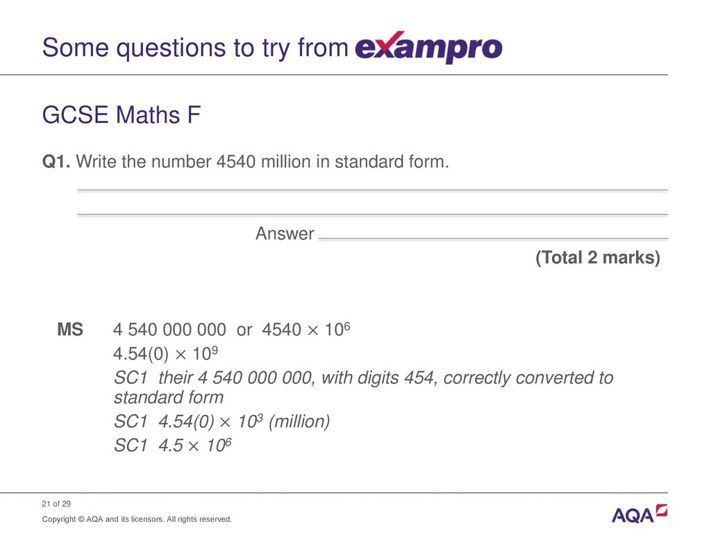 Standard form and order of magnitude calculations ppt download some questions to try from falaconquin