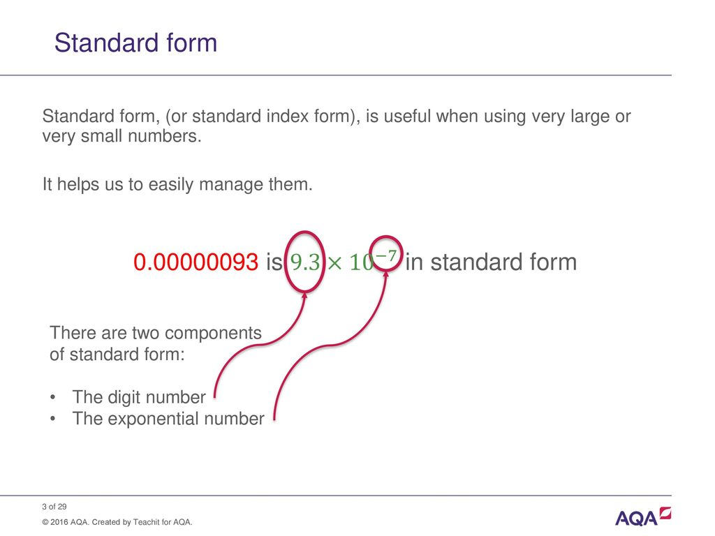 Standard form and order of magnitude calculations ppt download 3 standard falaconquin