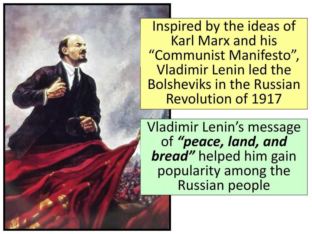 the ideas of karl marx and russian communism Gina lecca period 5 karl marx has expressed in his communist manifesto the positives of communism however, can these ideas truly unite a nation many of his points refer to the nation as.