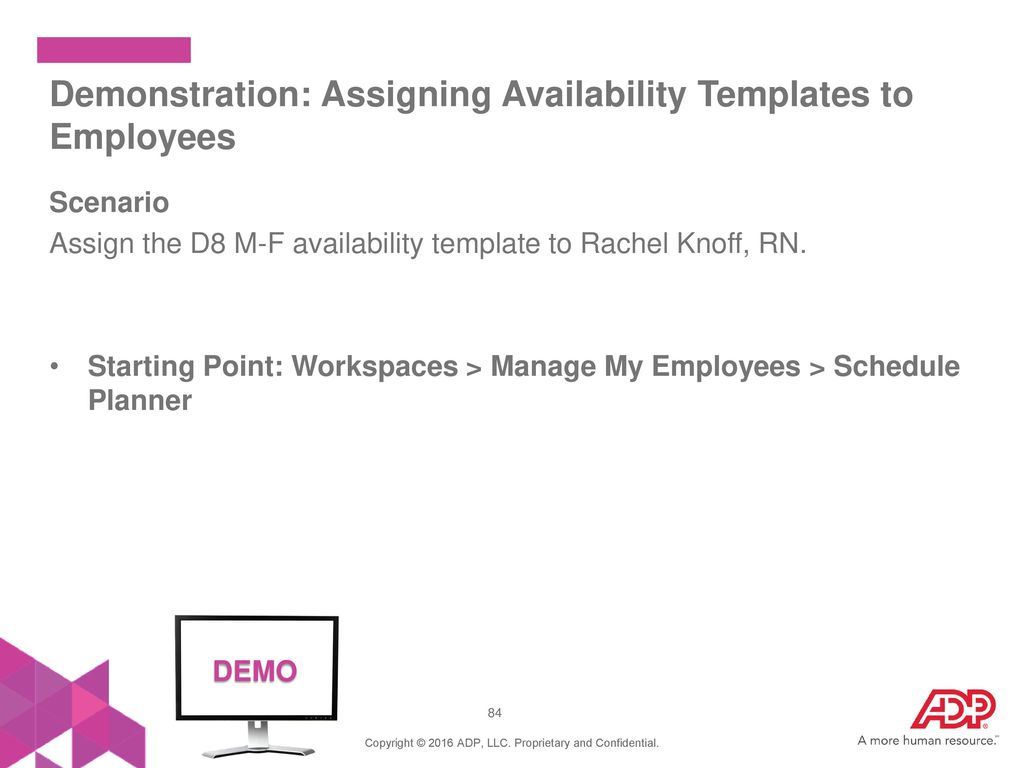 schedule of availability template