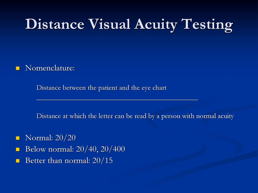 Transition to clinical practice tcp ophthalmology ppt download 10 distance visual acuity testing nvjuhfo Gallery