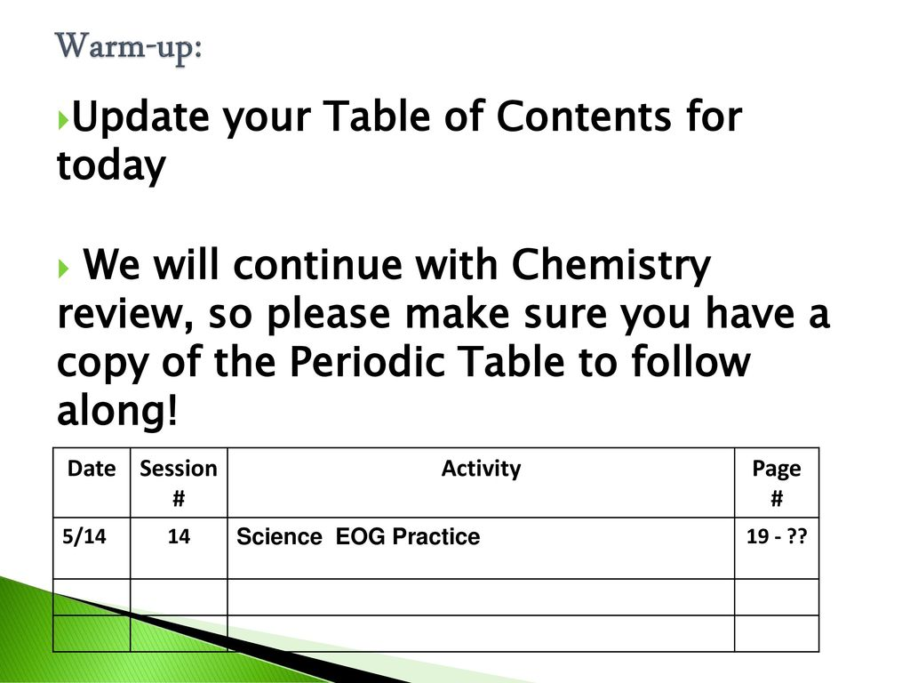 Sample questions test taking strategies ppt download warm up update your table of contents for today urtaz Image collections