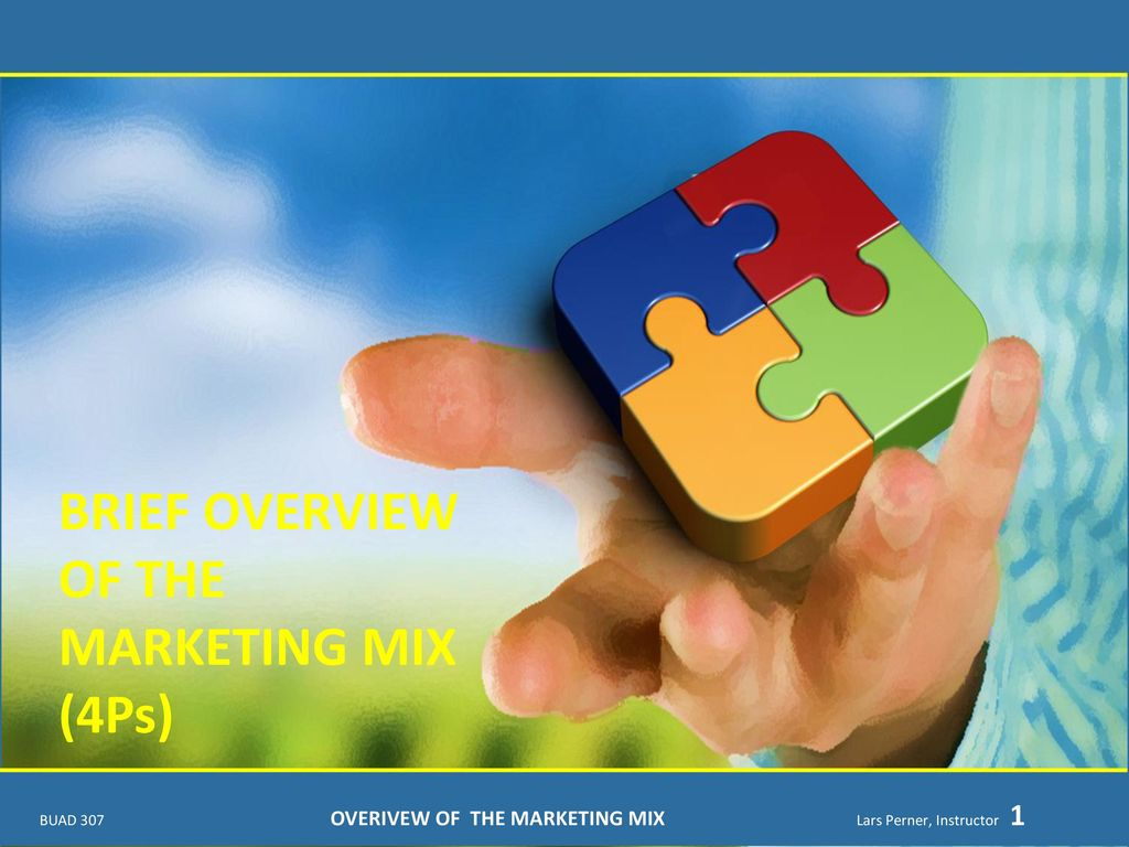 """a brief overview of marketing mix Marketing and the 7ps: a brief summary of marketing and how it work """" marketing is the management process responsible for  the only element of the marketing mix."""