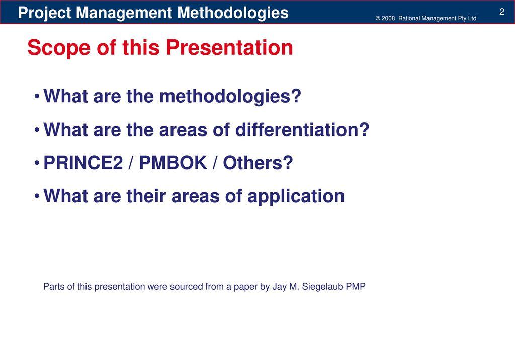project management methodologies