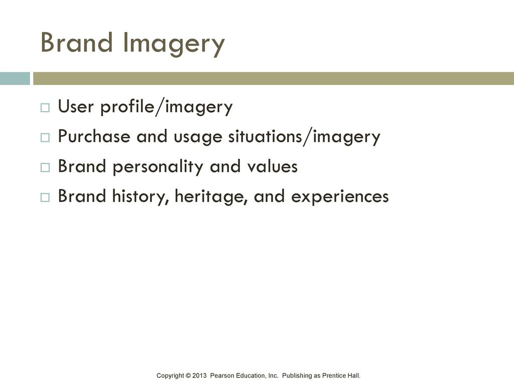 Brand Imagery User profile/imagery