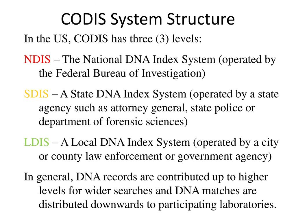 4 CODIS System Structure