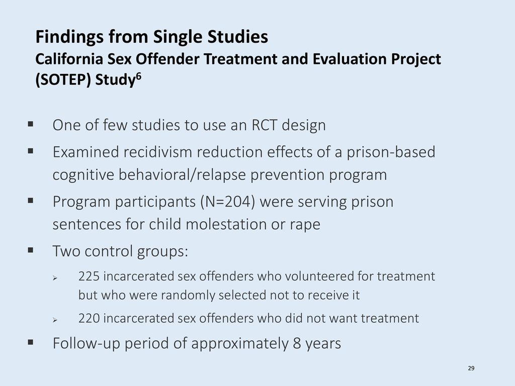 Sex offender treatment and evaluation project
