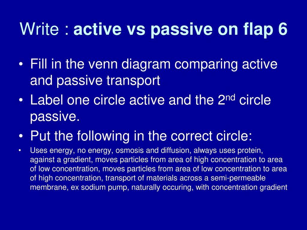 Active Transport And Passive Transport Venn Diagram Sasolo Annafora Co