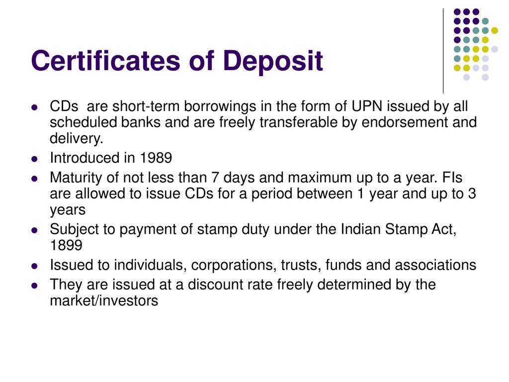 Indian financial system tanushree mazumdar iibf ppt download certificates of deposit 1betcityfo Image collections