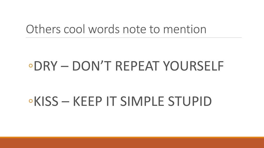 simple cool words