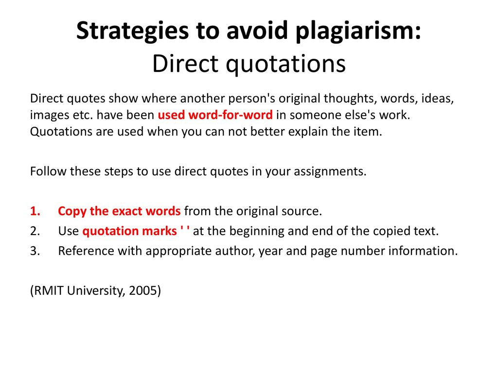 Direct Quotes Plagiarism And Harvard Referencing  Ppt Download