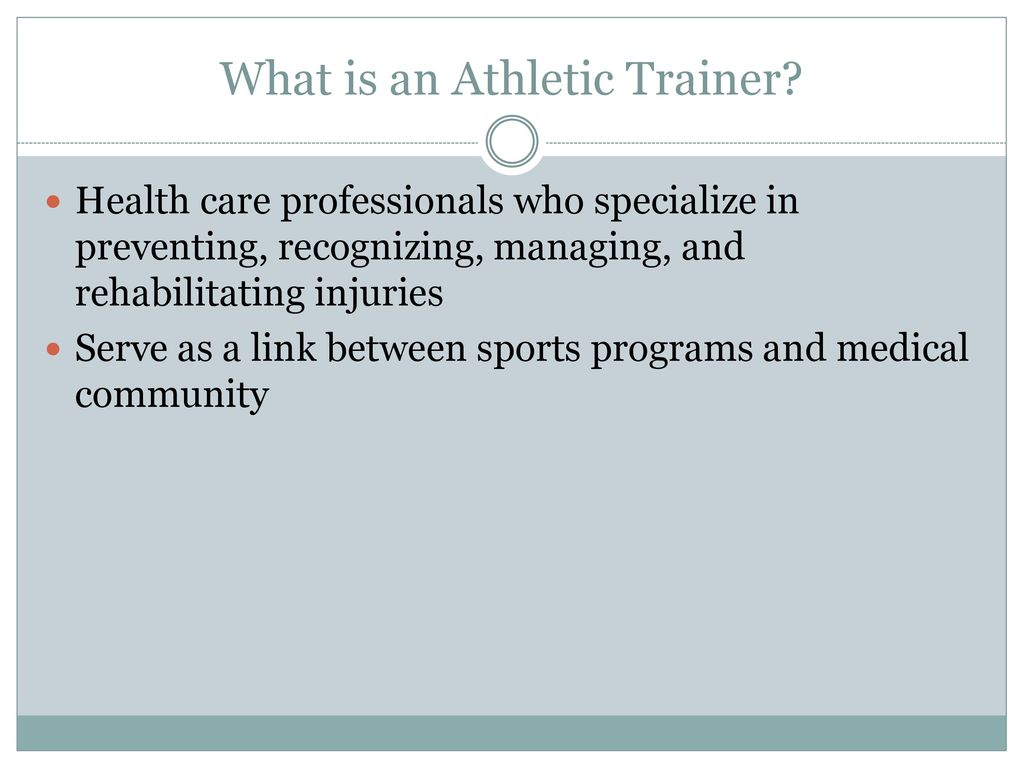 Bell ringer please write down these medical terminology what is an athletic trainer 1betcityfo Gallery