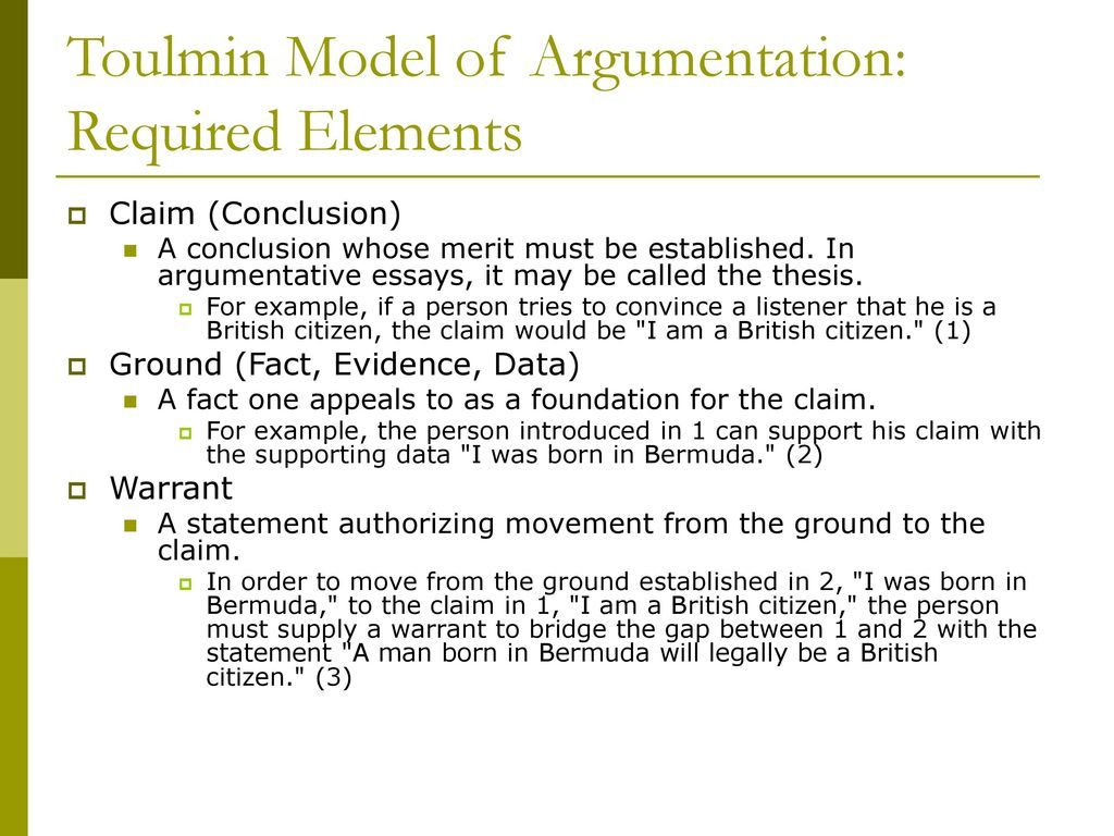 toulmin model in relation to social In argument in the real world, kristen and troy share a wealth of insights and   matter because a classical toulmin argument is claim, evidence, warrant  we' ve linked to all of the student samples and other things that are in the  you have  to recognize that social media and the conversation that was.