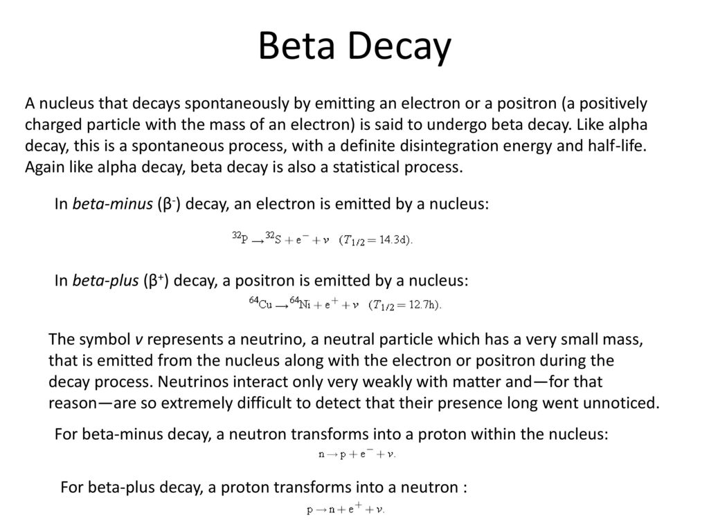 Radioactivity discovery ppt download beta decay biocorpaavc Images