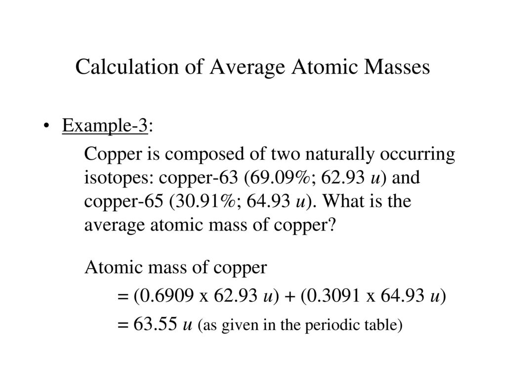 Chem 1a chapter 3 lecture outlines ppt download calculation of average atomic masses urtaz Gallery