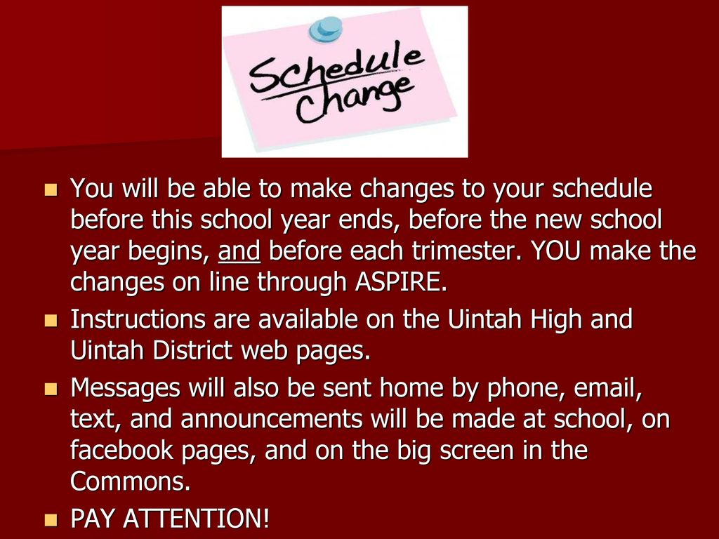make your schedule online