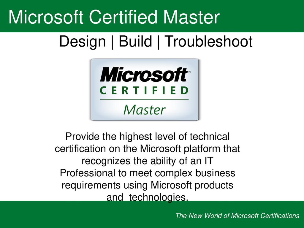 The new world of microsoft certifications ppt download mcse 2003 to mcitp 2008 one transition exam to earn all three mcts certifications 1betcityfo Gallery