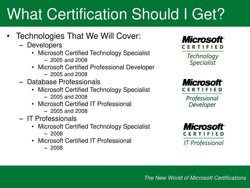 Microsoft Certified Technology Specialist Akbaeenw