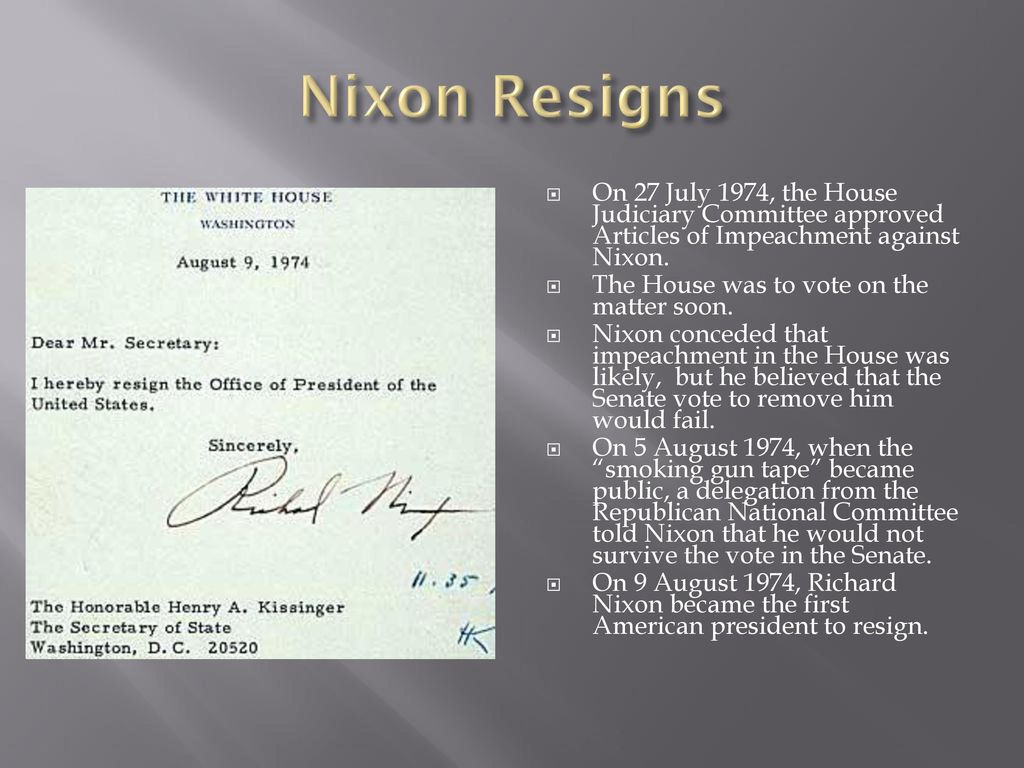 Magnificent Awesome Richard Nixon Resignation Letter Download Images ...