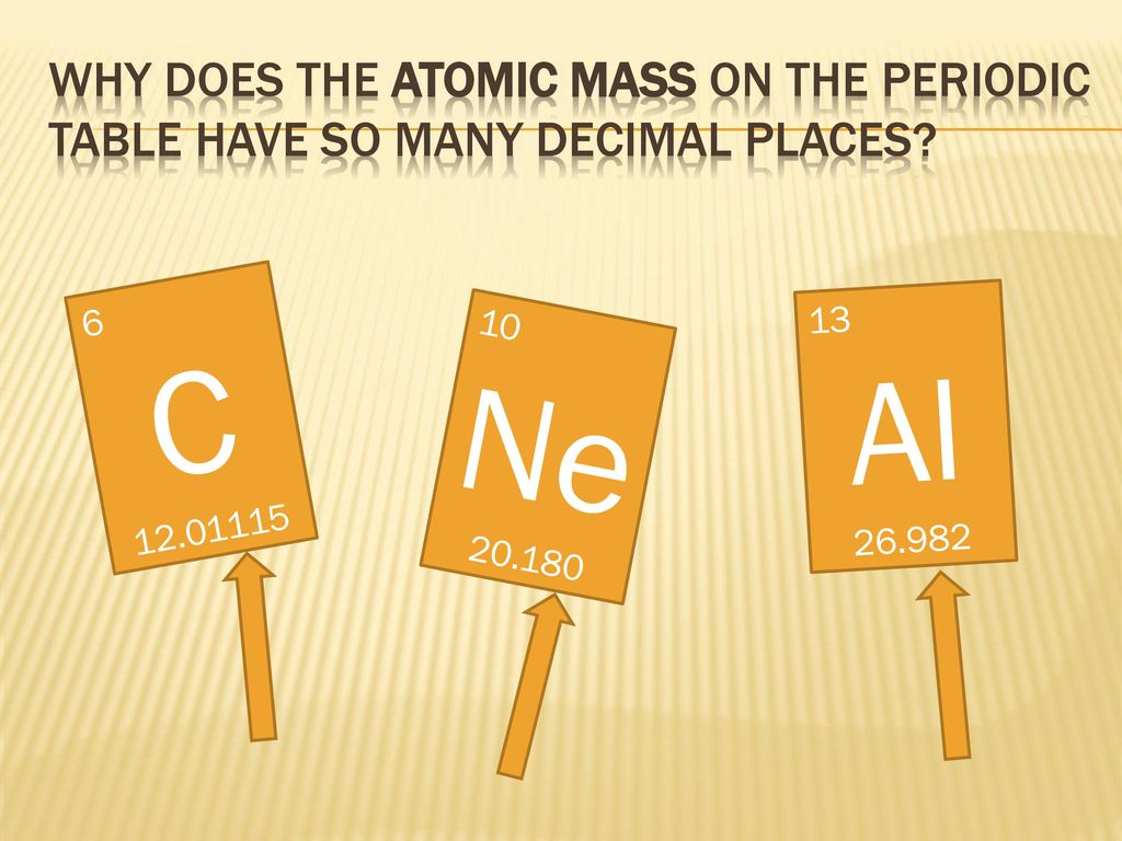 Workshop isotopes and average atomic mass ppt download why does the atomic mass on the periodic table have so many decimal places 6 urtaz Gallery
