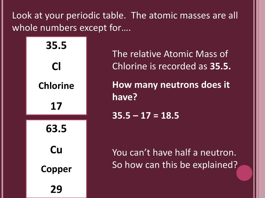 What is an isotope exam practice ppt download look at your periodic table urtaz Image collections