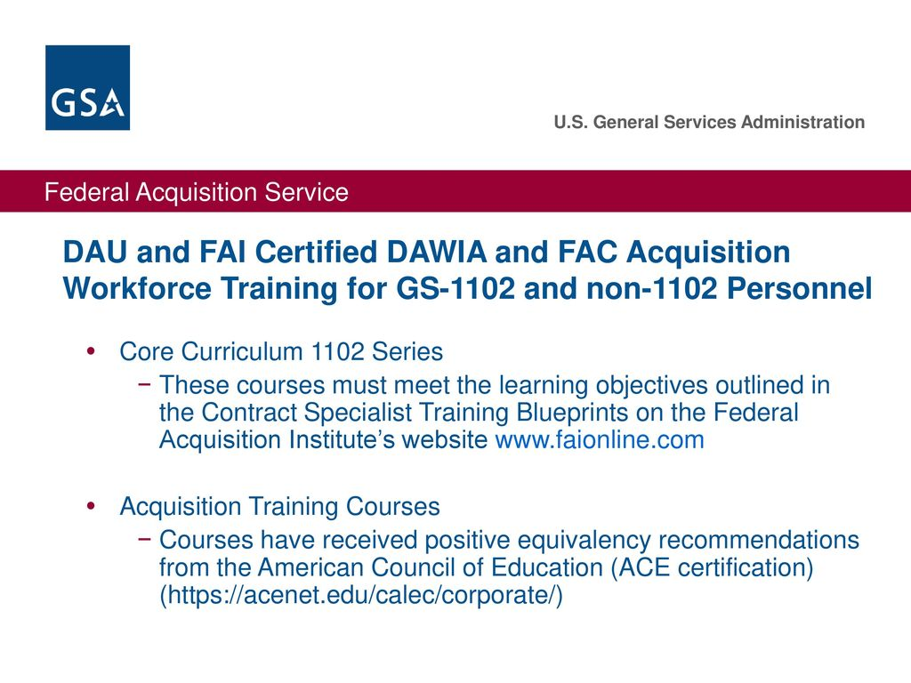 Gsa acquisition centers ppt download 20 dau and fai certified 1betcityfo Gallery