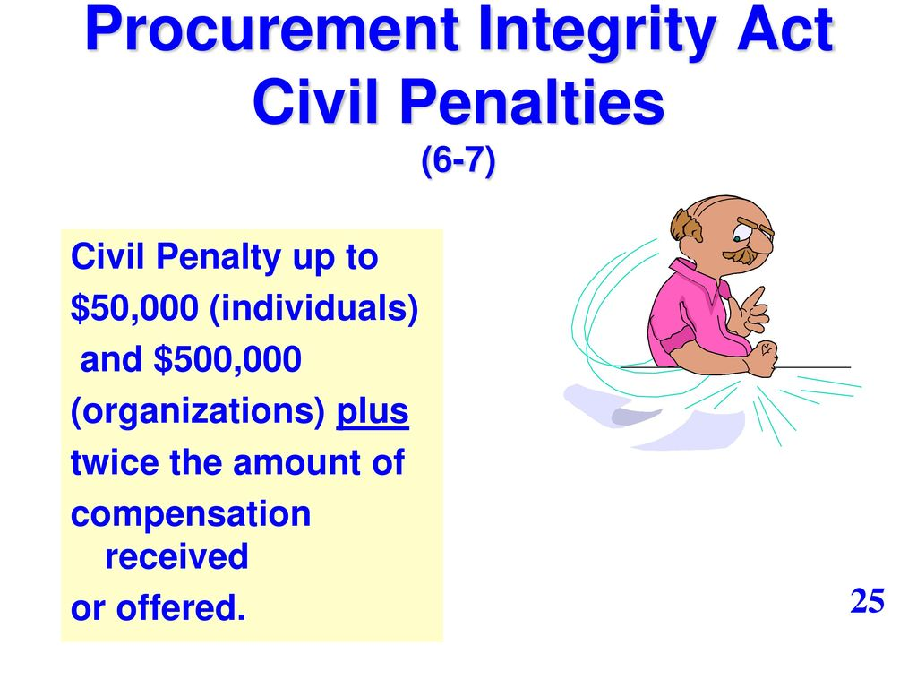 procurement ethics As a federal employee involved in the procurement and acquisition process,   common ethics and procurement integrity issues that can come up during the.