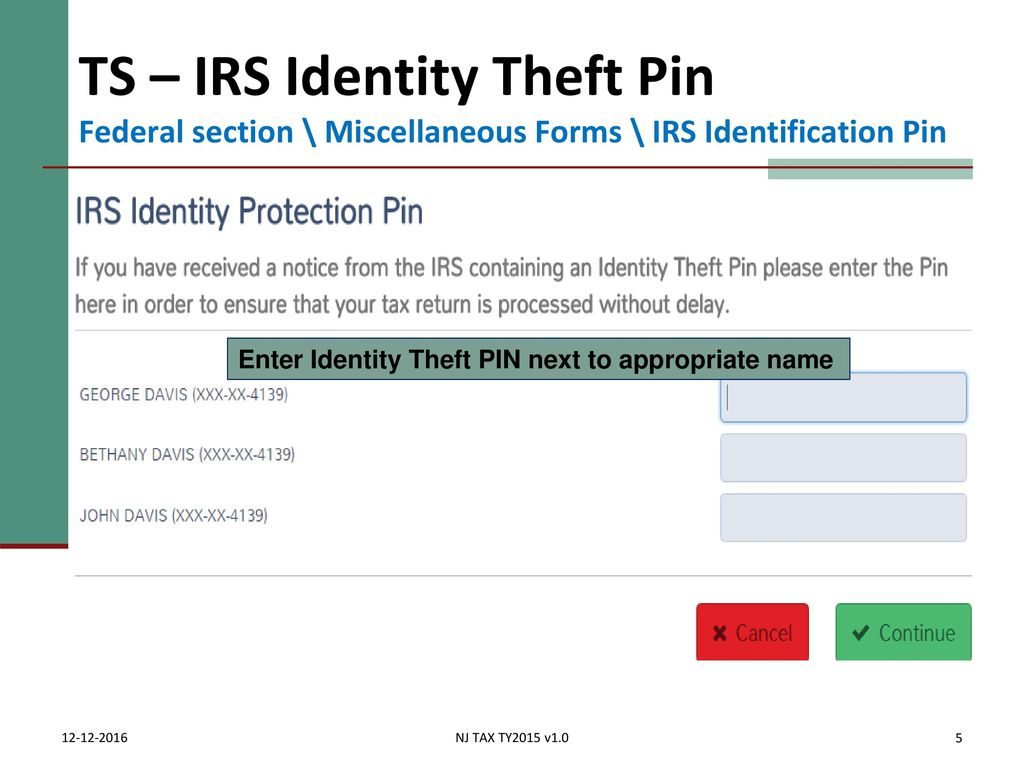 Concluding the interview ppt download 282018 ts irs identity theft pin federal section miscellaneous forms falaconquin