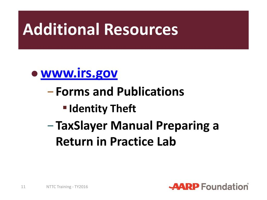 Pub 4491 pub 4012 taxslayer manual ppt download additional resources irs forms and publications falaconquin