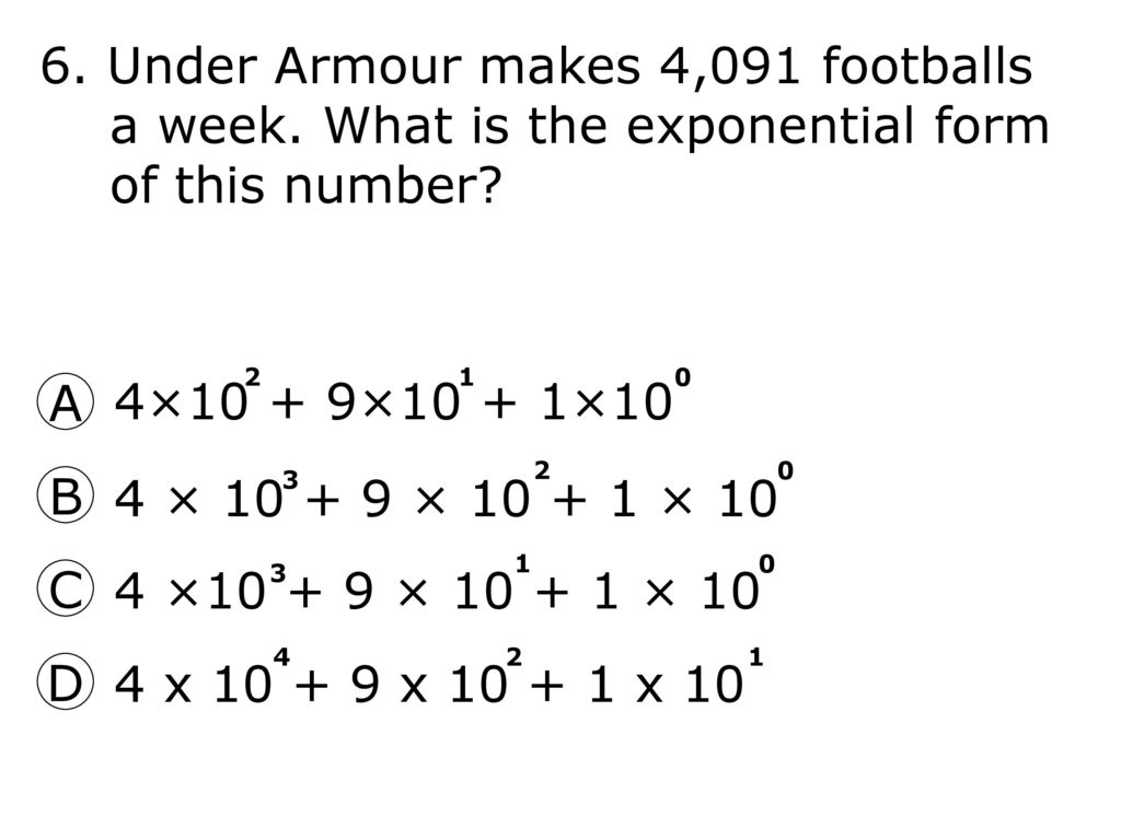 What is the standard form of the number shown in exponential standard form of the number shown in exponential notation 6 6 falaconquin