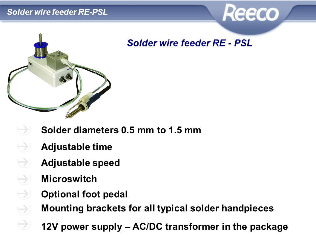 Solder wire feeder RE - PSL
