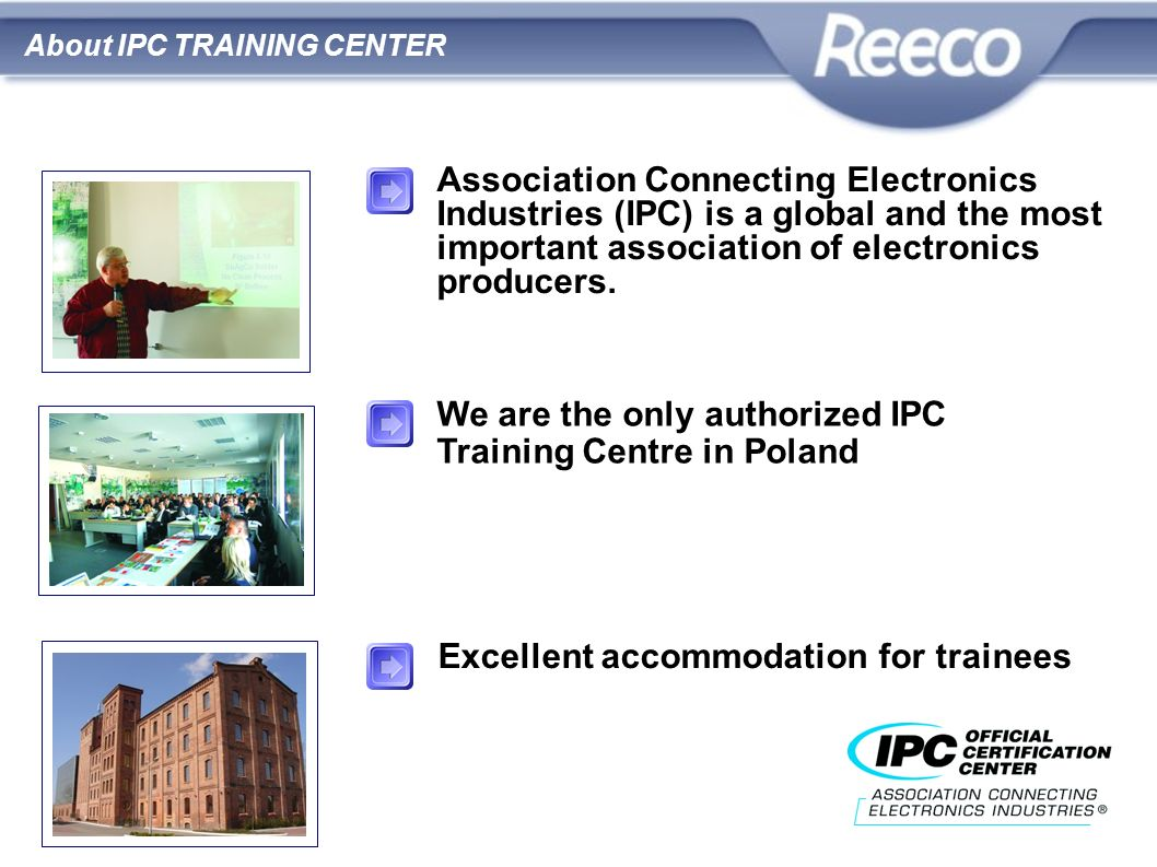 We are the only authorized IPC Training Centre in Poland